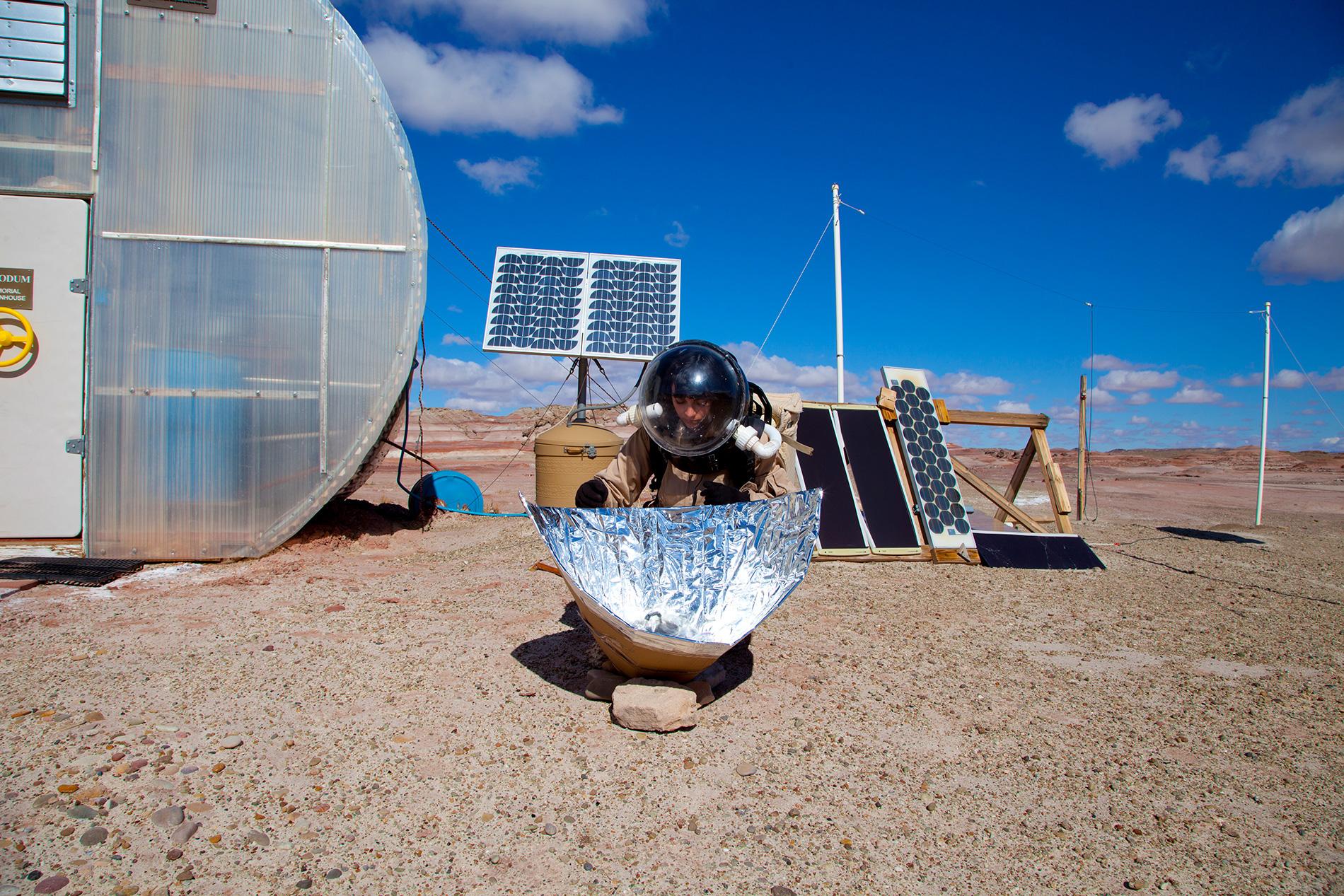 Mars solar cooker experiment