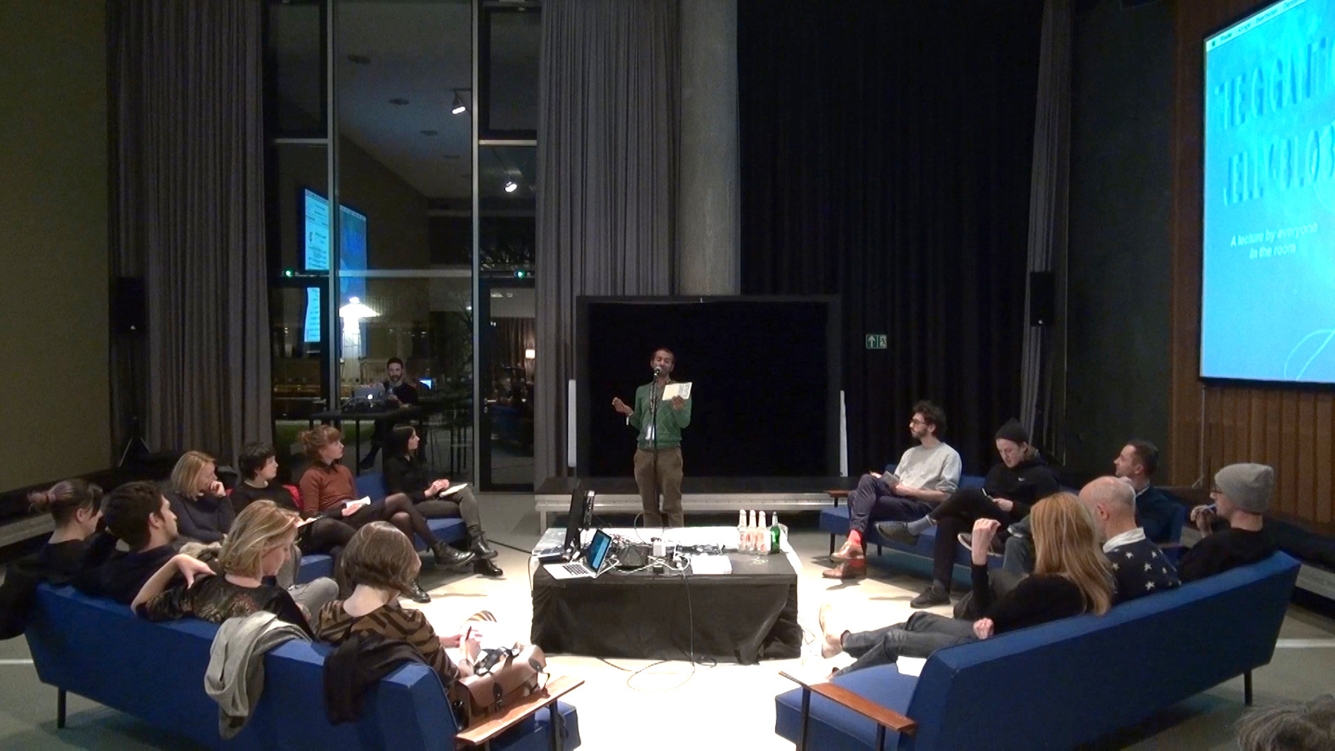 at transmediale 2016 - This version included a sound intervention by sound artist Dimitris Papadatos.